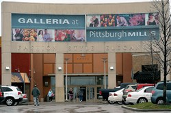 The main entrance to Galleria at Pittsburgh Mills in Frazer.