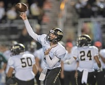 Gateway's Brady Walker throws a pass during a game earlier this year against Penn-Trafford.