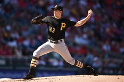 Steven Brault against the Washington Nationals at Nationals Park in the Pirates' season finale on Oct. 1.