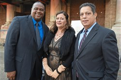 From left: Ed Gainey, Tracey Evans, and Jay Costa.