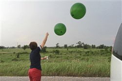 Yvette Richardson, professor of meteorology and associate dean for undergraduate education at Penn State, in May launched balloons carrying sensors in advance of an approaching storm in Oklahoma.
