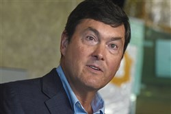 In this October 2017 file photo, Pirates president and owner Bob Nutting visits PNC Park for a press conference.