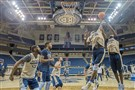 Pitt's Peace Ilegomah, right, battles for a rebound with Samson George during practice Oct. 5.
