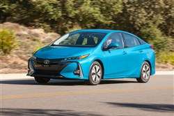 Getting more than 70 mpg in testing, the 2017 Toyota Prius Prime should certainly attract plenty of attention whether or not it's in the popsicle blue color shown here. Dewhurst Photography