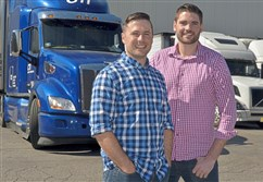 Nick Bartel and Hayden Cardiff of Idelic Inc., a Strip District startup, have developed software that identifies problem truck drivers and predicts the likelihood that they will be in an accident.