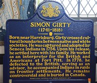 The Simon Girty historic plaque that will soon be displayed near the Mary S. Brown-Ames United Methodist Church in Greenfield.
