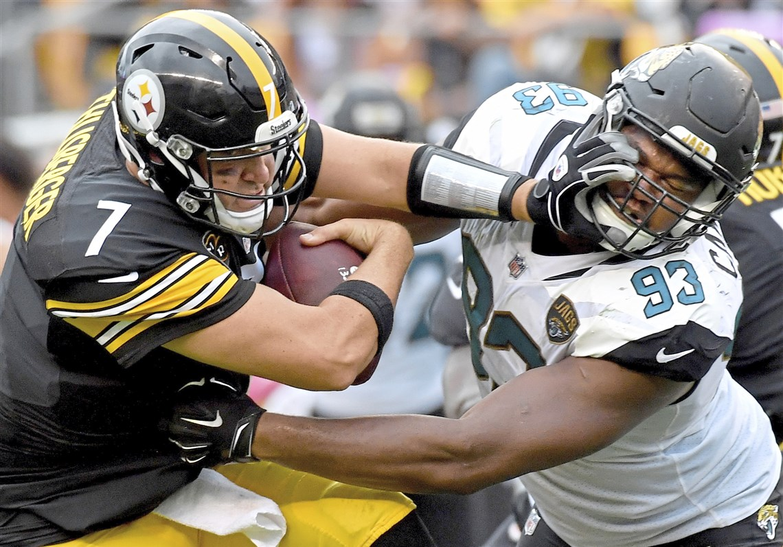 Calais Campbell, Ben Roethlisberger, Ben Roethlisberger 5 interceptions, Steelers vs Jaguars