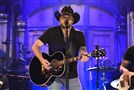 "Jason Aldean performs ""I Won't Back Down"" on ""Saturday Night Live on Saturday in New York."