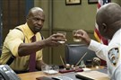 "Terry Crews, left, and Andre Braugher in the May 2 ""Moo Moo"" episode of ""Brooklyn Nine-Nine."""