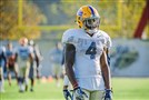 Pitt cornerback Therran Coleman, who made the most of his first major opportunity Saturday at Syracuse, stands during a drill Tuesday morning at practice.