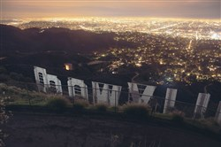 This 2015 file photo shows the Hollywood sign in Los Angeles.
