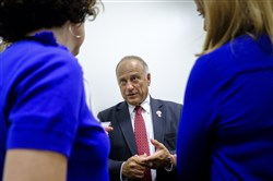 In this Sept. 6, 2017, file photo, Rep. Steve King (R-Iowa) speaks to reporters at the Capitol Building in Washington.