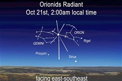 Orionid meteor shower.