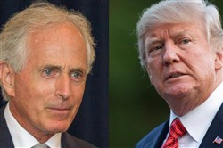 Sen. Bob Corker, R-Tenn., and President Donald Trump
