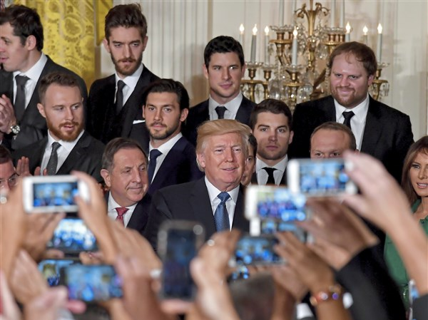 Penguins' White House visit with President Trump mostly steers clear of politics - Pittsburgh Post-Gazette ...