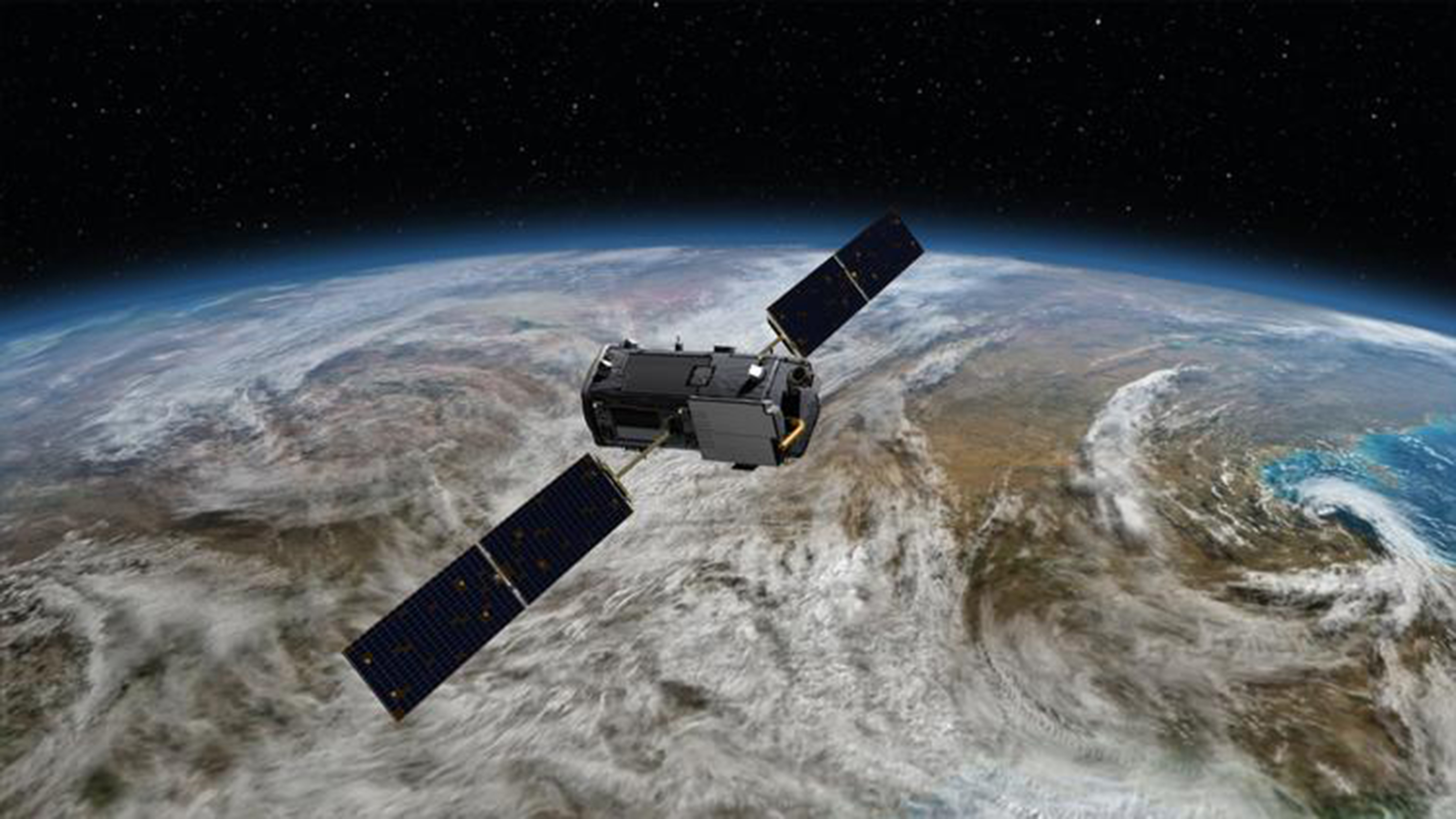 WEB US NEWS SCI-NASA-CARBON LA An illustration of NASA's Orbiting Carbon Observatory-2 satellite at work in Earth's orbit.