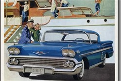 A 1950s General Motors ad for the Chevrolet Impala