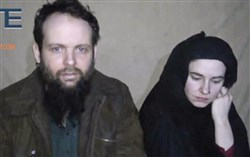 Canadian Joshua Boyle and his wife, American Caitlan Coleman, who were kidnapped in Afghanistan in 2012, are shown in an image from 2016.
