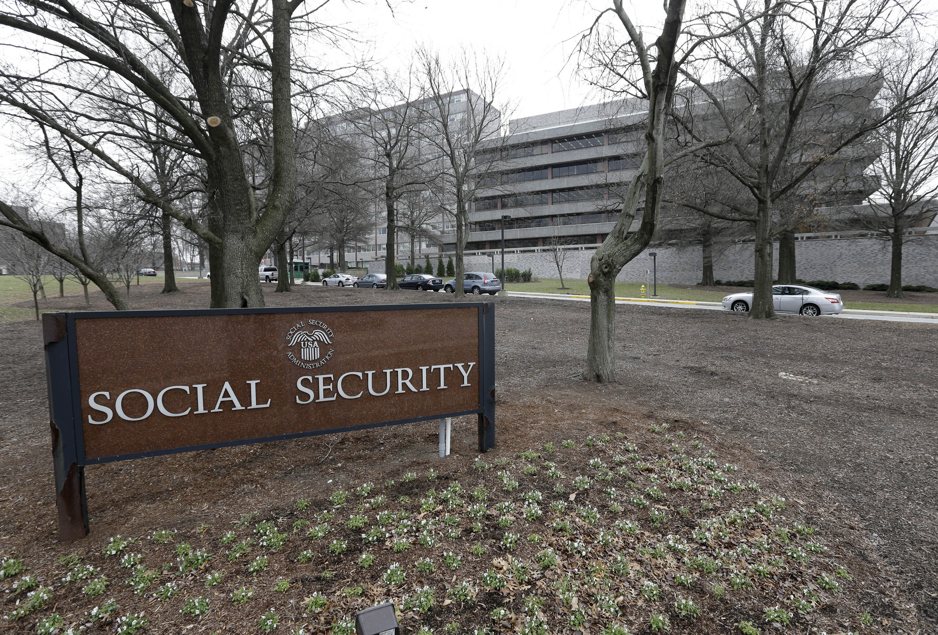 Social Security COLA FILE - In this Jan. 11, 2013 file photo, the Social Security Administration's main campus is seen in Woodlawn, Md. Millions of Social Security recipients and other retirees can expect another small increase in benefits in 2018. Preliminary figures suggest an increase of around 2 percent. That would mean an extra $25 a month for the average beneficiary. The Social Security Administration is scheduled to announce the cost-of-living adjustment on Oct. 13, 2017.(AP Photo/Patrick Semansky, File)