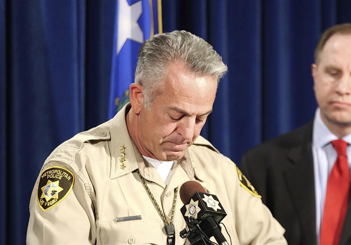 las vegas gunman targeted police responding to his shooting