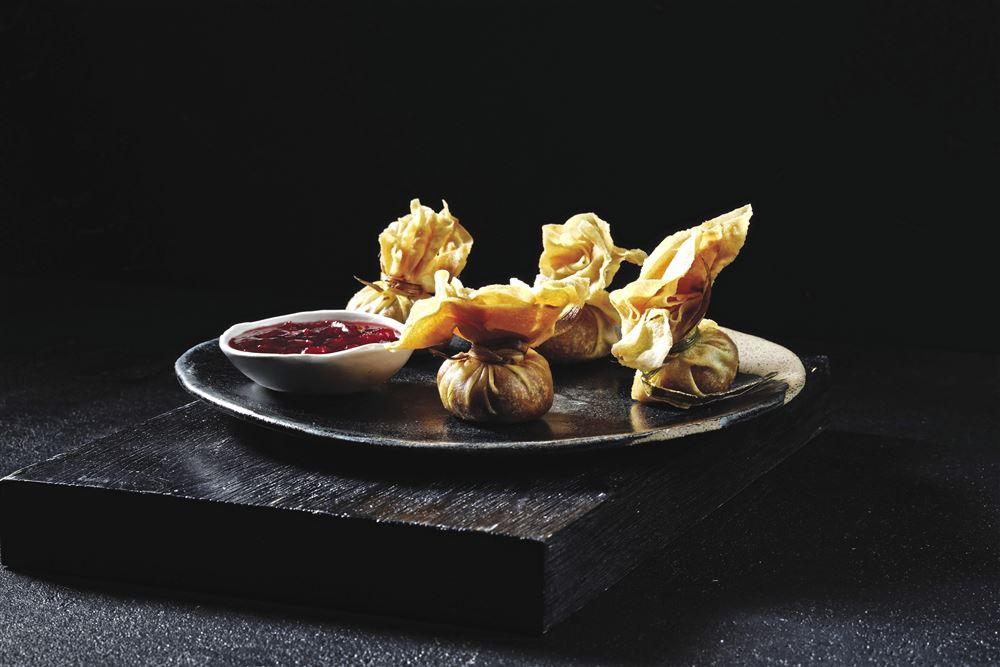 Sweet Potato Samosa Purses