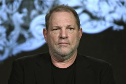 In this Jan. 6, 2016, file photo, producer Harvey Weinstein participates in a panel at the A&E 2016 Winter TCA in Pasadena, Calif.