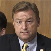 U.S. Sen. Dean Heller (R-Nev.) speaks during a Senate Committee on Finance hearing in Washington, D.C., on September 25, 2017.