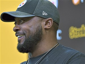 Mike Tomlin addresses the media Tuesday on the South Side.