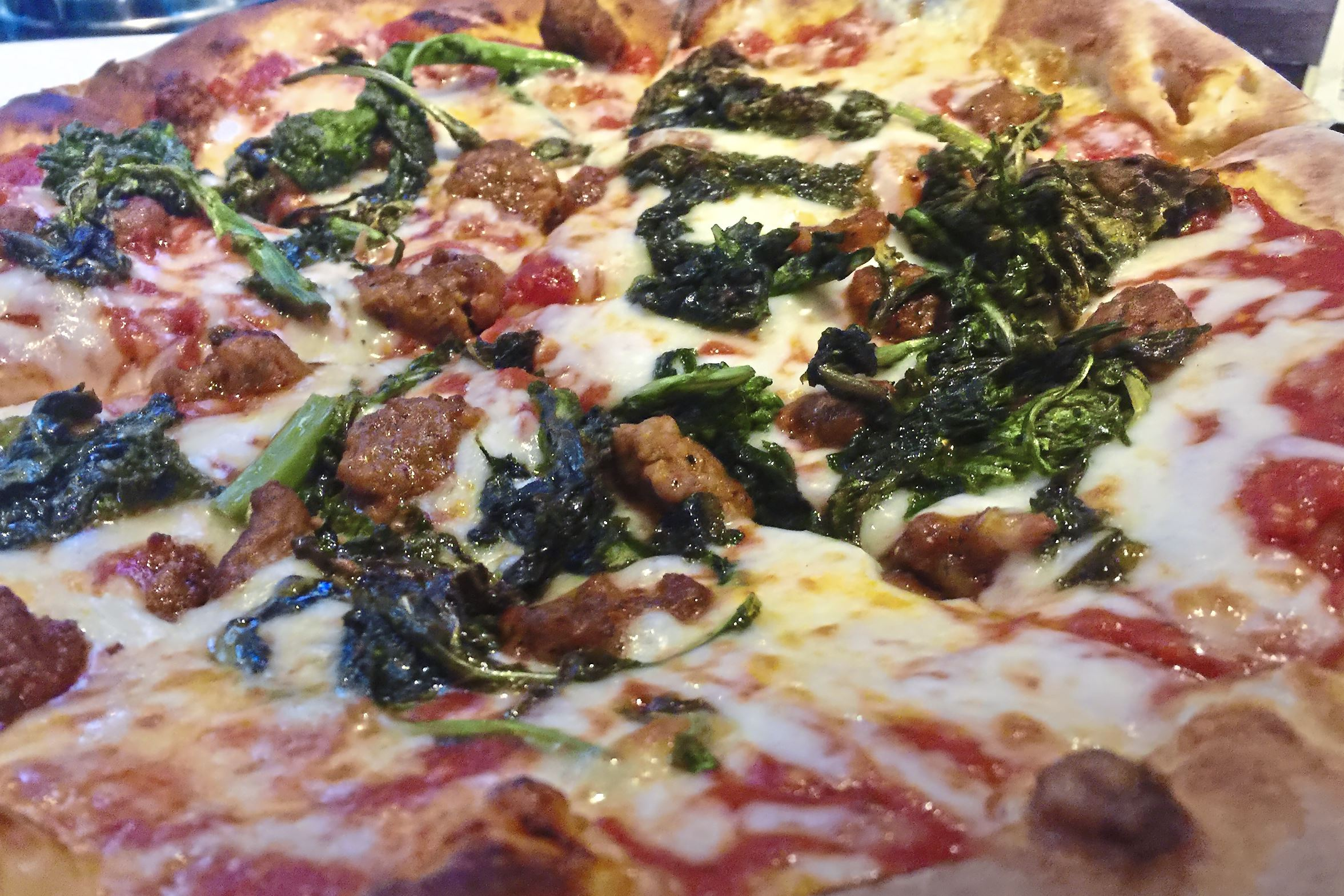 munch1019 pub broccoli rabe pizza-1 The rabe and sausage pizza at The Pub at 333 in Oakmont.