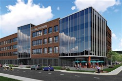Artist rendering of the RDC Star LLC four-story office building known as District Fifteen.