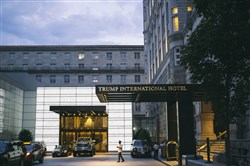 The entrance to the Trump International Hotel in Washington, Aug. 1, 2017.