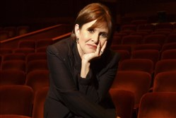 "This Nov. 4, 2006, file photo shows Carrie Fisher before a rehearsal of her autobiographical show ""Wishful Drinking"" at the Geffen Playhouse in Los Angeles)"
