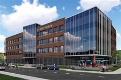 Artist rendering of the four-story office building known as District Fifteen.