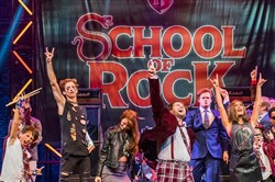 "The original ""School of Rock"" London cast."