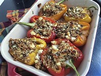 Kasha Stuffed Peppers
