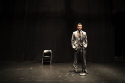 "White nationalist Richard Spencer, who popularized the term ""alt-right,"" speaks during a press conference at the Curtis M. Phillips Center for the Performing Arts on October 19, 2017, in Gainesville, Florida."