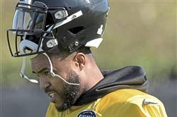 Pittsburgh Steelers Mike Mitchell during afternoon practice Thursday, October 19, 2017, at the UPMC Rooney Sports Complex, Pittsburgh.