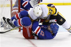 The Penguins beat the Rangers, 5-4, in overtime in New York in October.