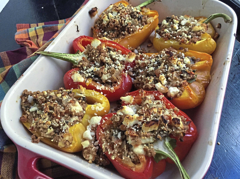 kasha peppers 3-4 Kasha Stuffed Peppers