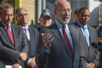Gov. Tom Wolf on Friday, Oct. 20, 2017, announced a $5 million grant to supply first responders across the state with naloxone, a drug used in emergency treatment of opiate overdoses.