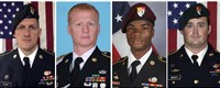 From left, Staff Sgt. Bryan C. Black, 35, of Puyallup, Wash.; Staff Sgt. Jeremiah W. Johnson, 39, of Springboro, Ohio; Sgt. La David Johnson of Miami Gardens, Fla.; and Staff Sgt. Dustin M. Wright, 29, of Lyons, Ga. All four were killed in Niger when a joint patrol of American and Niger forces was ambushed by militants believed linked to the Islamic State group.