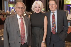 Grand Champion Awardee Dr. Arthur Levine with fellow awardees Karen Feinstein, and Dr. Eric Rodriguez.