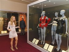 "Lauren Delie checks out ""Undressed: A History of Fashion in Underwear"" at The Frick Pittsburgh. Due to popular demand, the show will stay at the museum in Point Breeze an extra week. Its closing day is now Jan. 14."