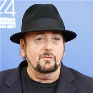 """This Sept. 4, 2017, file photo shows James Toback during the """"The Private Life of a Modern Woman"""" photo-call at the 74th Venice International Film Festival at the Palazzo del Casino in Venice, Italy."""
