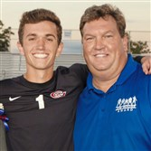 James Moore Jr., of Chartiers Valley High School and his father, James Moore Sr.