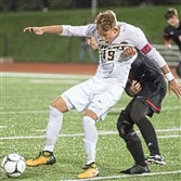 North Allegheny's Josh Luchini scored the winning goal against Upper St. Clair in a 1-0 win in Class 4A.