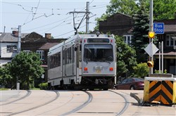 In this 2012 file photo, a Port Authority light-rail vehicle passes the Coast Avenue stop in Beechview.