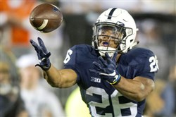 Penn State running back Saquon Barkley was named the Chicago Tribune's Silver Football award winner Thursday. The honor goes to the league's best player, as voted on by Big Ten coaches.