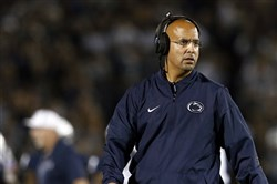 Penn State head coach James Franklin looks on during the Georgia State game this season.