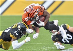 Players such as Steelers linebacker Ryan Shazier, seen here tackling Bengals running back Joe Mixon, are helping NFL defenses make plays in space and neutralize offensive schemes.